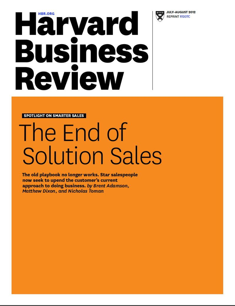 Death of solution selling